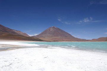 Laguna Verde on the Altiplano in Bolivia