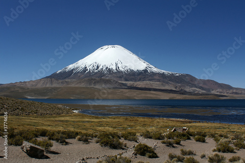 Mainain in National Park Lauca