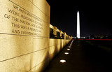 military quote -  Washington Monument in background. poster