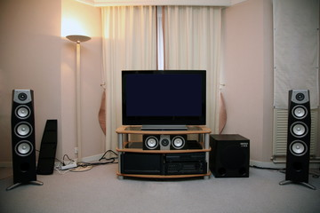 audio system in the room