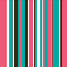 Aqua, Pink & Brown Stripes