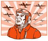 World war two ace pilot poster