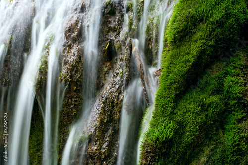 The beautiful waterfall in forest, spring,  long exposure