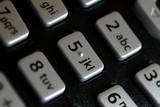 clavier de téléphone avec lettre pous SMS poster