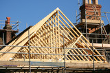 Roof timber frame poster