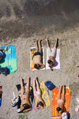 Sunbathing in Sorrento
