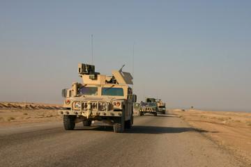 Humvees on Patrol in Iraq