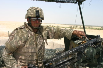 American Soldier at an Outpost in Iraq