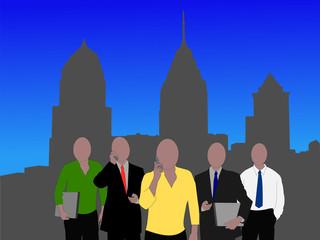 Philadelphia business team