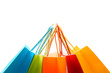A shot of a bunch of colorful shopping bags - 3787893