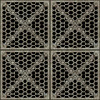a large image of a metal gridwork barrier