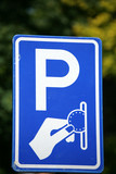 traffic  signs in a city: payment  parking in amsterdam poster