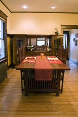 Dining Room with Dinner Table Ready To Go