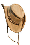 Leather beige hat of the cowboy poster