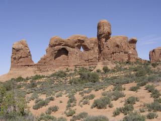 Sandstone rock formation