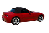 Red convertible sports car roadster  isolated on a white. poster