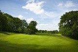 Golf fairway in British countryside poster