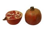 Pomegranates. One & half pomegranates. Fruit poster