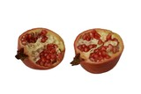 Pomegranates. Two pieces or halves of pomegranates   poster