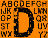 Acid etched Numbers from A-Z in Vector Format poster