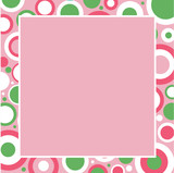 Pink, White and Green Frame