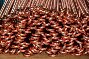 Bent Copper Piping