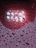 Magenta waterdrops texture detailed background 3 poster