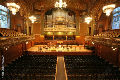 Fotobehang Theater old auditorium, gold and velvet decoration