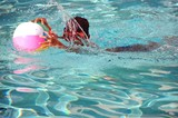 Boy With Orange Swim Goggles poster