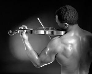 Bodybuilder Violinist