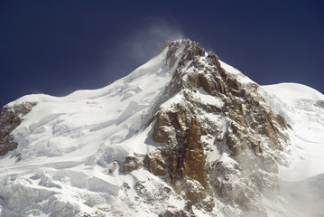 View of Mont Blanc mountain range from Parc de Merlet