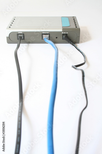 wires are connected to the modem