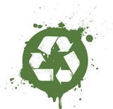Fototapety Logo recyclage trash