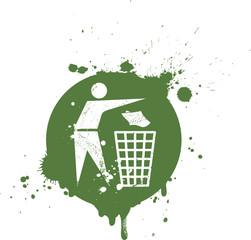 Logo recyclage trash