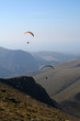 Paragliders over the mountains in Snowdonia