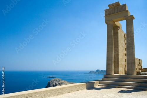 Temple of Athena Lindia at Lindos, Rhodes, Greece - 3807268