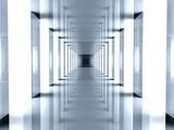 Kwadratowy biały tunel - 3807485