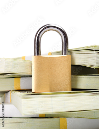 Money security isolated on white background