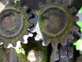 Close Up Of Rusted Gear