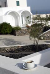 santorini greek island coffee typical cyclades architecture