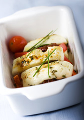 cooked halloumi cheese