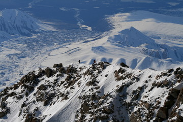 Climbers on West Buttress of Denali 2