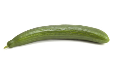 Whole cucumber on white
