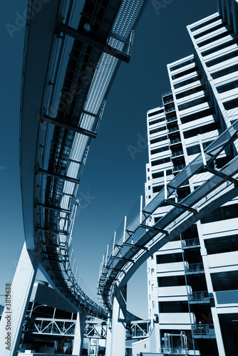 Urban architecture Buildings and monorail