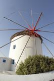 windmill famous classic greek islands mykonos greece   poster