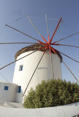 windmill famous classic greek islands mykonos greece