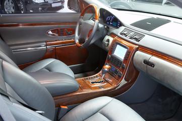 Photo of interior of dear car...