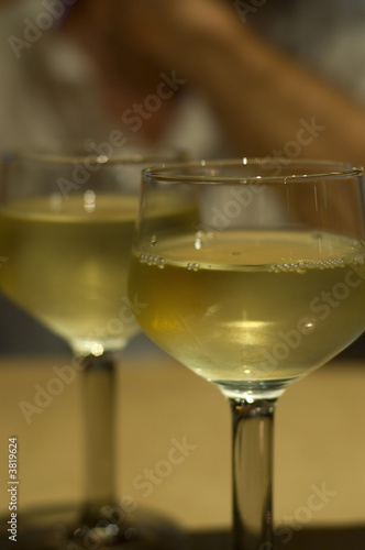 Two glasses white wine