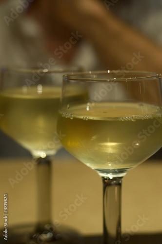 Two glasses white wine