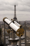 Telescope With  Eiffel Tower poster